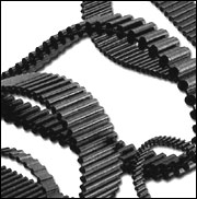 1280-D8M-20 Black Rubber Timing Belt