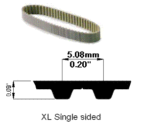 100XL100 POLY STEEL BELT, 50 Tooth