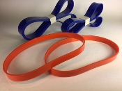 4 pieces COMPLETE SET 2 Orange Urethane Band saw Replacement Belt TIRES + 2 Blue Drive Belts (Wood & Metal Speed) for Delta 28-560