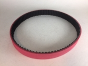 Toothed Replacement Grabber Feed Belt for Schleuniger CrimpCenter 36 red